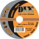 Řezný kotouč na ocel DIY 115x1,6x22,2